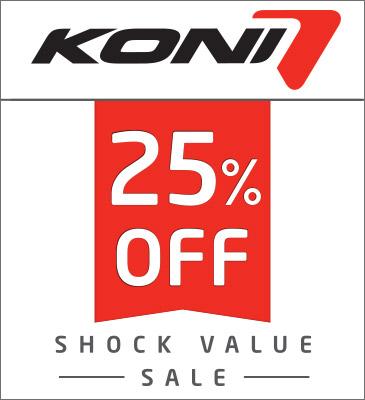 KONI Shock Value Sale end Aug. 31!!