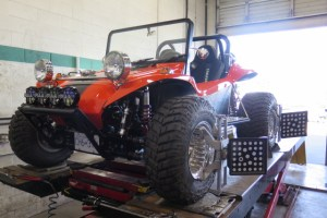 Manx Buggy in for a 4- Wheel Alignment