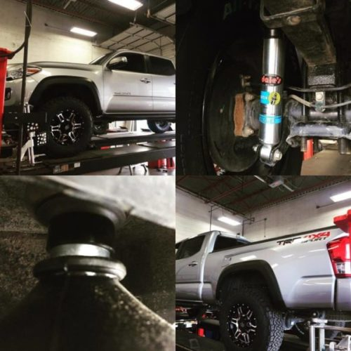 '16 Toyota Tacoma gets a pair of Bilstein 5100 and spacers for more shock at Dales Auto Service
