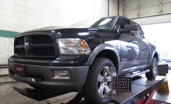 Ram 1500 in for Bilstein 5100 Lift shocks and an Alignment at Dales Auto Service