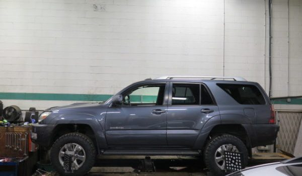 Toyota 4-Runner with a 3″ Lift W/ Bilstein 5100 Front Coilovers installed at Dales Auto Service