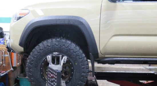 2016 Toyota Tacoma with Bilstein 5100 lift struts and new rims/tires- so nice!!