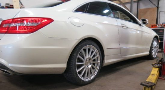 Late model Mercedes getting new Snow Tire and Rims