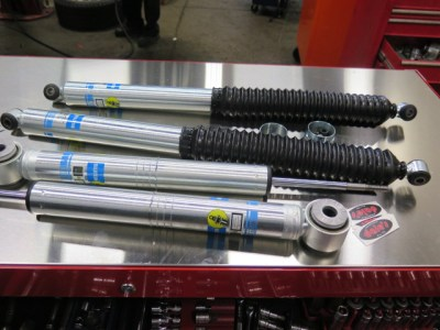 Ford F150 getting new Bilstein 5100 at Dales Auto Service