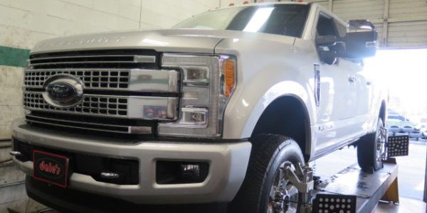 2017 Ford F350 getting a READYLIFT Level off Kit at Dales Auto Service