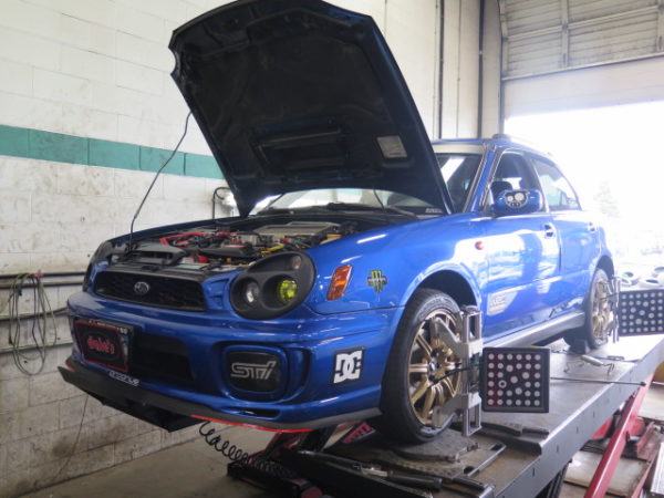 Bug-Eye WRX in for King Lift Springs and Samco Silicone Hoses at Dales Auto Service