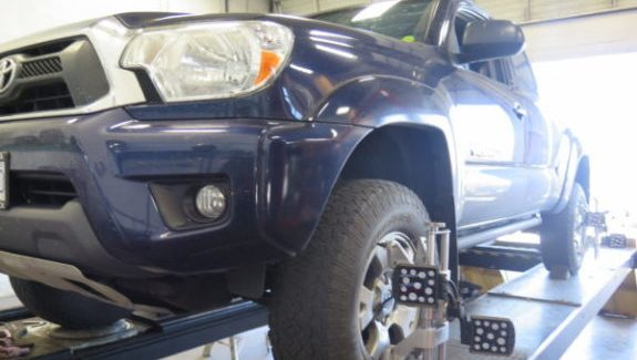 Toyota Tacoma in for a Readylift Level off Kit at Dales Auto Service