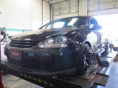 Mk 5 VW Golf GTI in for ST Coilovers