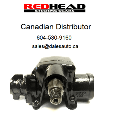 Dales Auto Service is the Canadian RedHead Steering Gear Distributor