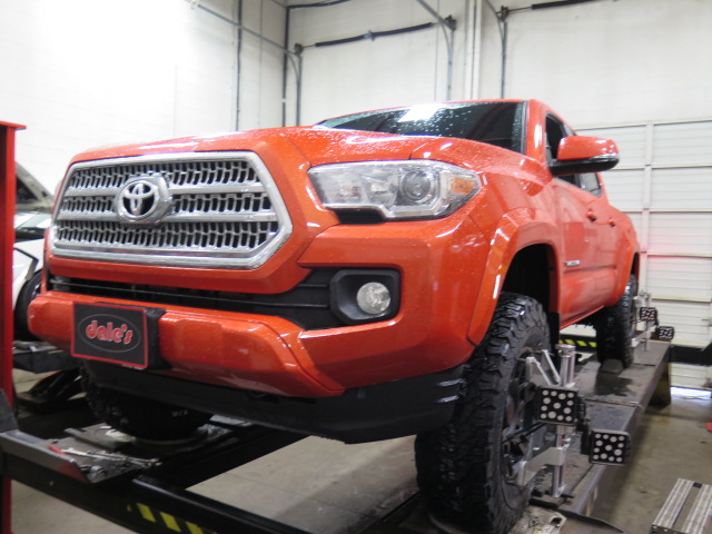 Toyota Tacoma in for a Leveling Kit and rear Lift Blocks | Dales