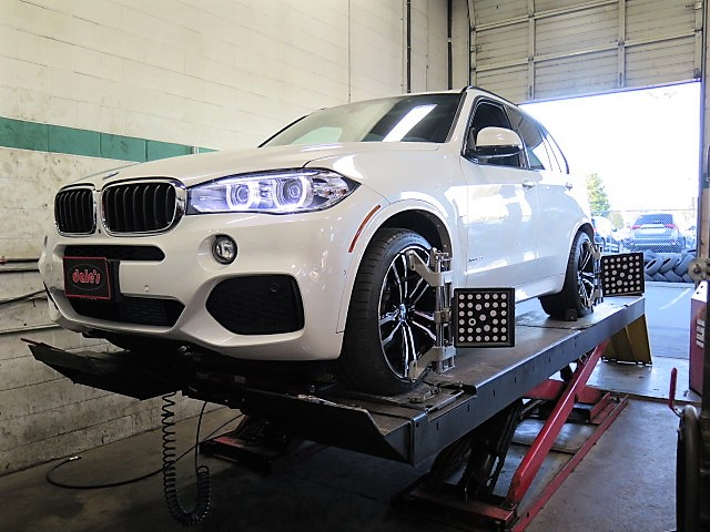 2017 BMW X5 in for Sport Suspension Kit and Wheel Spacers