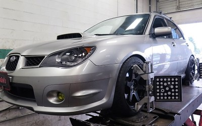Subaru WRX in for ST Coilovers and Whiteline Swaybars