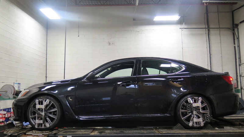 Lexus ISF in for a wheel alignment (2)