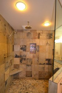 Walk-In Shower with Rain Head