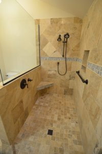 Plans For A Custom Doorless Shower