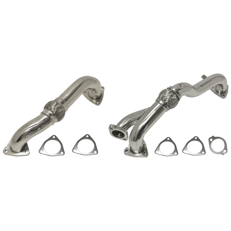 Flo~Pro Polished Stainless Steel Stock Replacement Pipes