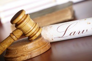 Chicago Social Security Lawyers Judges gavel with old paper