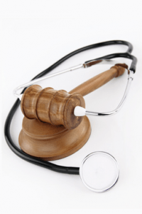 Chicago Social Security Disability Lawyer gavel and stethescope