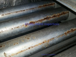 Furnace inspection cracked heat exchanger on home inspection