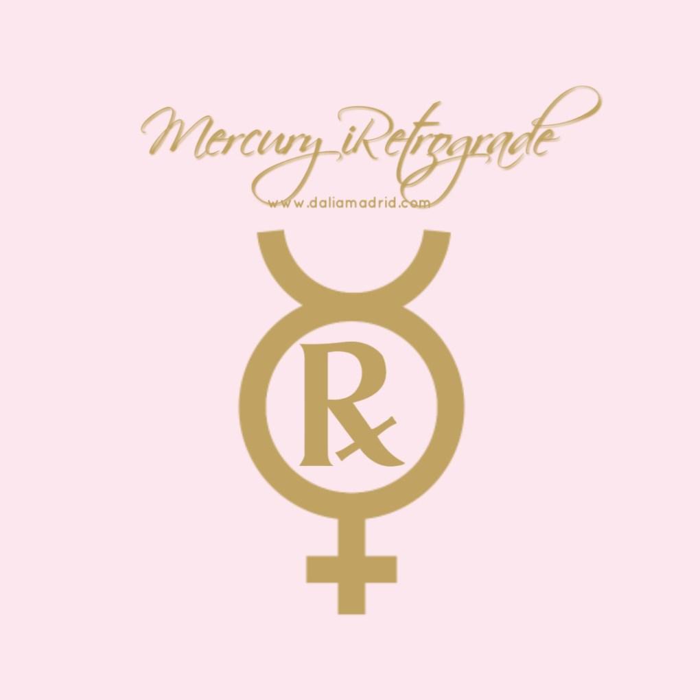 The Retrograde symbol inside Mercury Symbol.