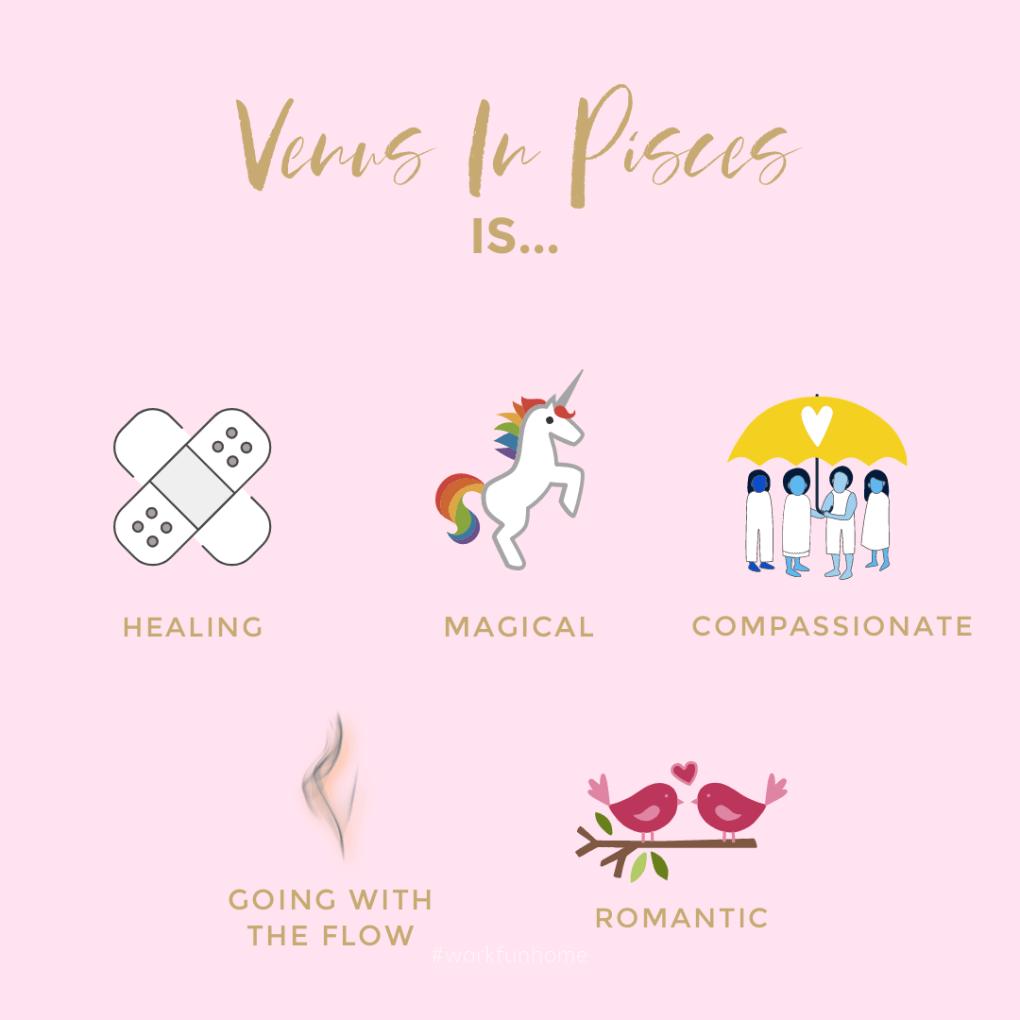 Venus in Pisces is...