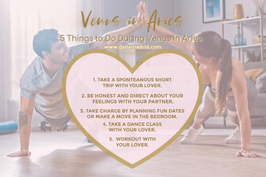 This picture show a loving couple working out together. This is one of the things to do during Venus in Aris. Here are 5 Things to do when Venus enters Aries from March 20, 2021 until April 15, 2021.