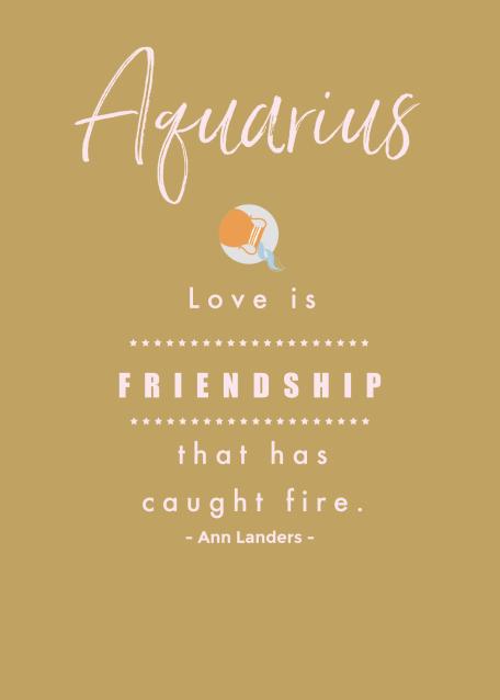 Aquarius Love Quote