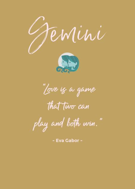 Gemini Love Quote