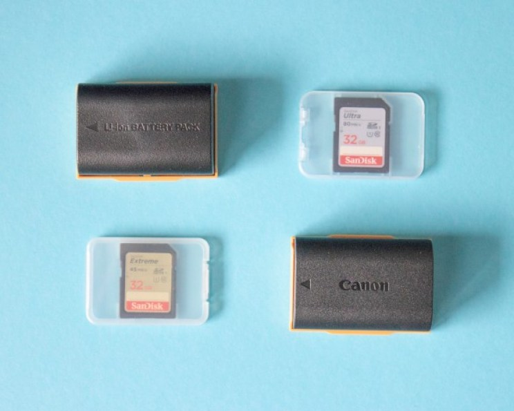Batteries and SD cards - you should really have some spare ones! Do not save money on SD card, get a good one. Whereas with batteries, you can go for a third-party manufacturer.