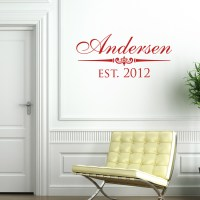Classic Family Name - Personalized Monogram - Wall Decals ...