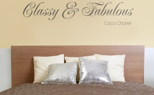 Classy Fabulous Quote Wall Decals Stickers Graphics