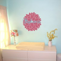 Dahlia Flower and Name - Personalized Monogram Wall Decals