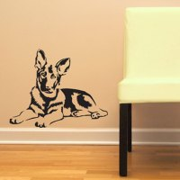 German Shepherd Dog - GSD - Vinyl Wall Decal