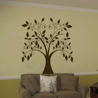 Large Swirling Tree Falling Leaves - Vinyl Wall Decal