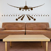 Airplane Landing on the Runway - Wall Decals