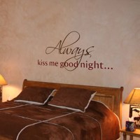 Always Kiss Me Goodnight - Wall Words & Wall Decals