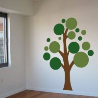 Lots Circles Tree - Vinyl Wall Decals