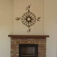 Compass Rose Wall Decal Sticker Graphic
