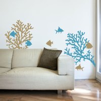 Coral Reef & Fish - Wall Decals Graphic Stickers
