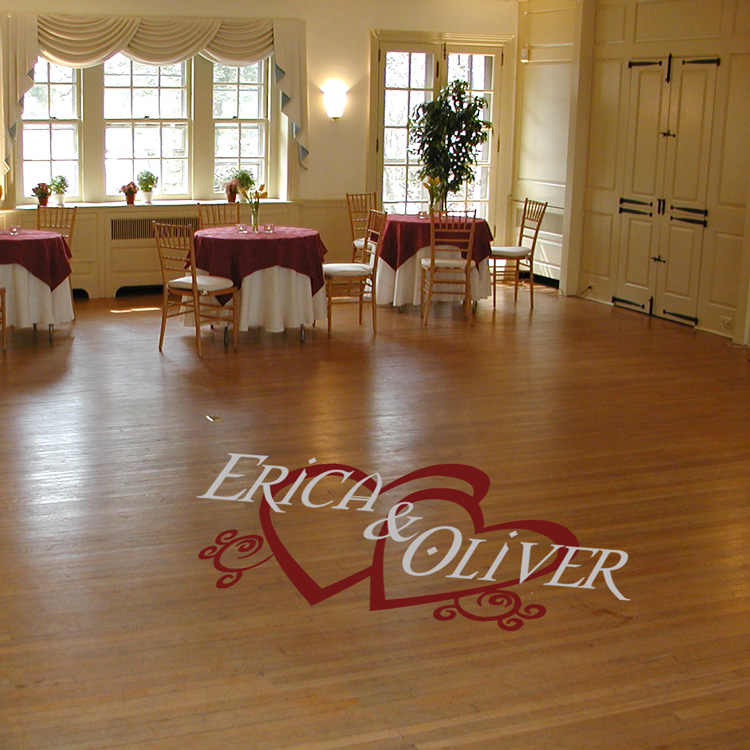 Personalized Wedding Reception Dance Floor Wall Decal Sticker Graphic