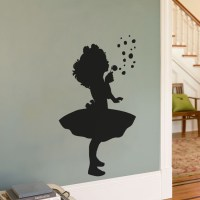 Little Girl Blowing Bubbles - Silhouette Wall Decal ...