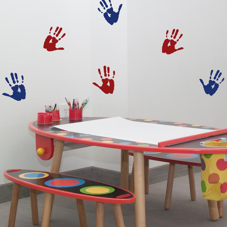 hand prints set of