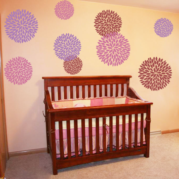 giant mums set of wall decals