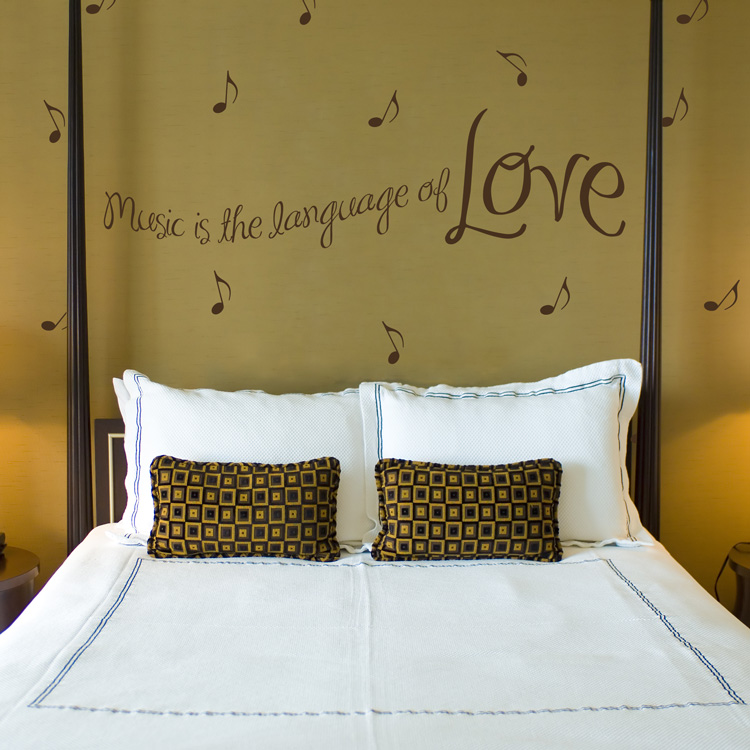 Music Is The Language Of Love Music Notes Quote Wall