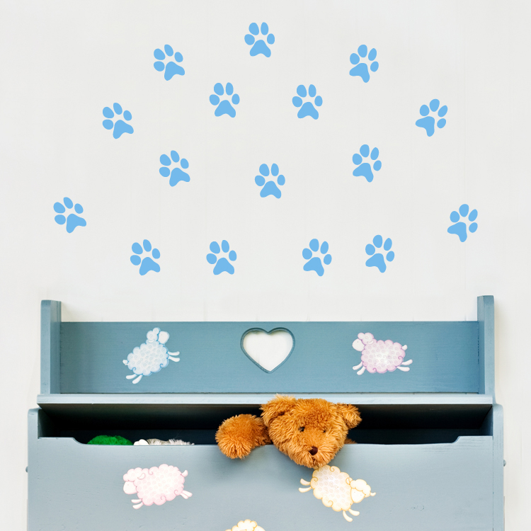 animal paw prints set