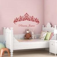 Princess Headboard - Girls Room - Wall Decals