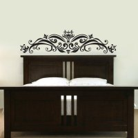 Ornate Headboard Wall Decal Sticker Graphic