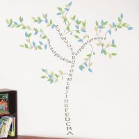 Alphabet Tree - ABCs & Numbers - Wall Decals