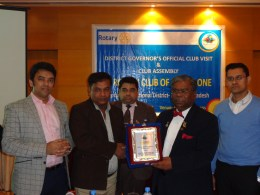 Parittran received great appreciations award from Rotary Club of Dhaka One 01