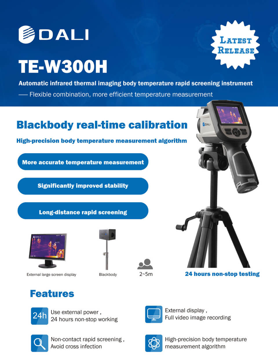 TE-W300H Thermal Imaging Camera Feature